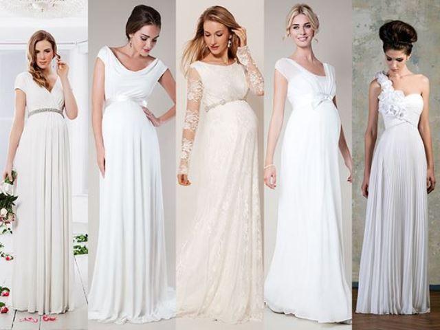 vestidos de novia para embarazadas 6 meses