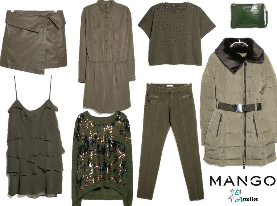 Prendas verde militar de Mango