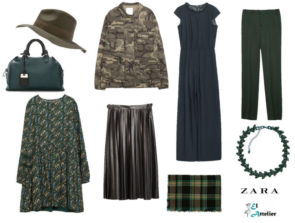 Prendas verde militar de Zara