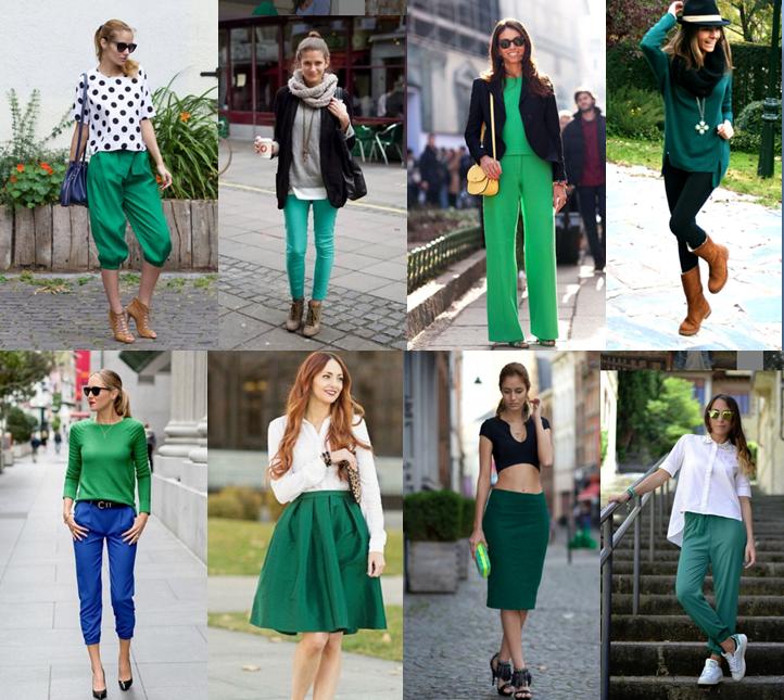 Saint patricks day_el attelier_día de San Patricio_estilismos verdes_outftis verdes_outftis para San Patrick_pantalones_jerseys_faldas