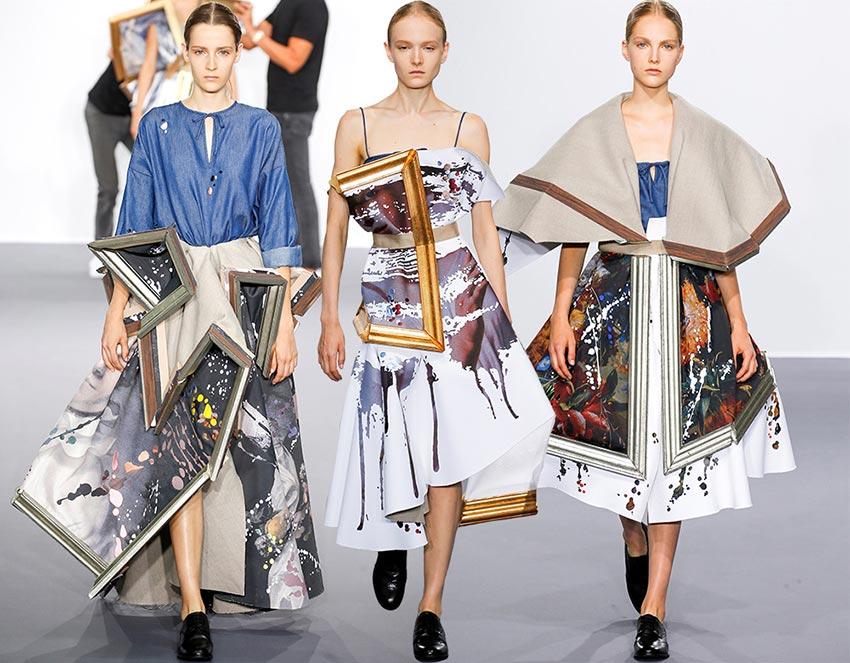 Viktor & Rolf, O/I 2015, cuadros como prendas de vestir