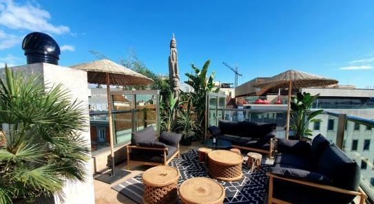 Terraza del hotel Urban en el centro de Madrid