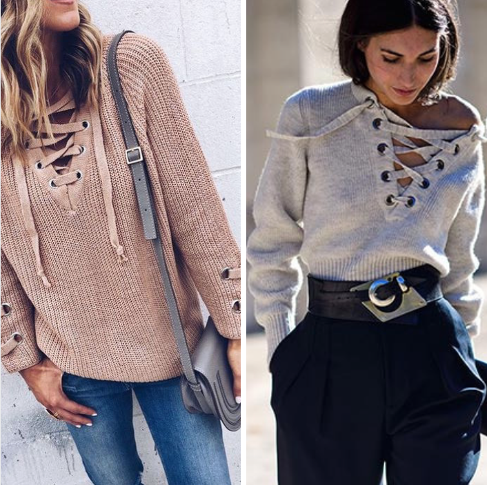 How to wear: Camisetas lace up