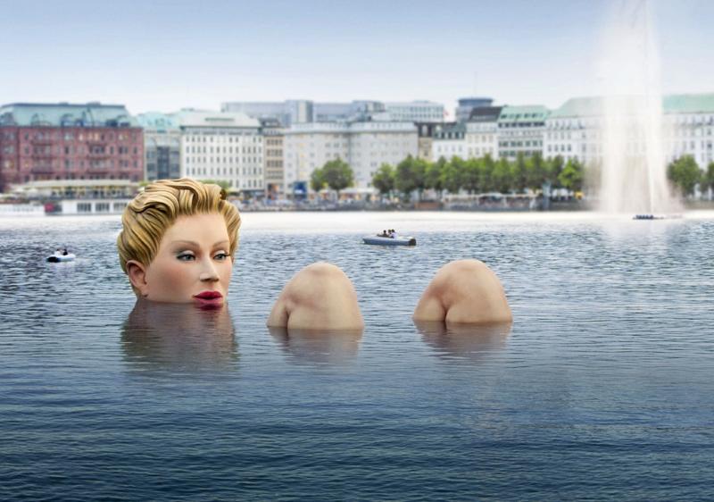 El lago Alster en Hamburgo