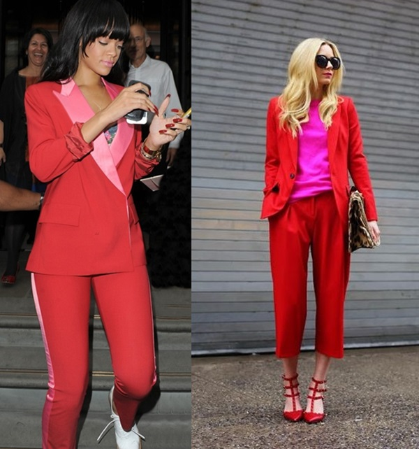 Rojo y rosa, la tendencia del momento
