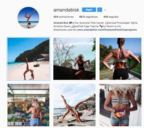 inspiración fitness instagram