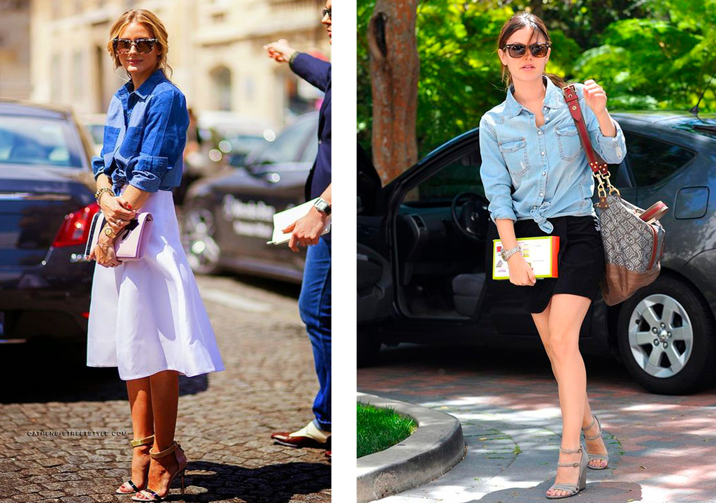 How to wear: camisas con nudo y con estilo