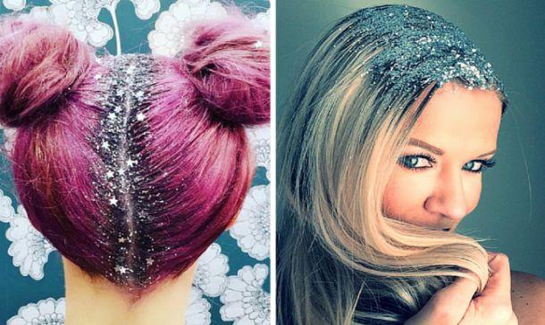 pelo con purpurina tumblr