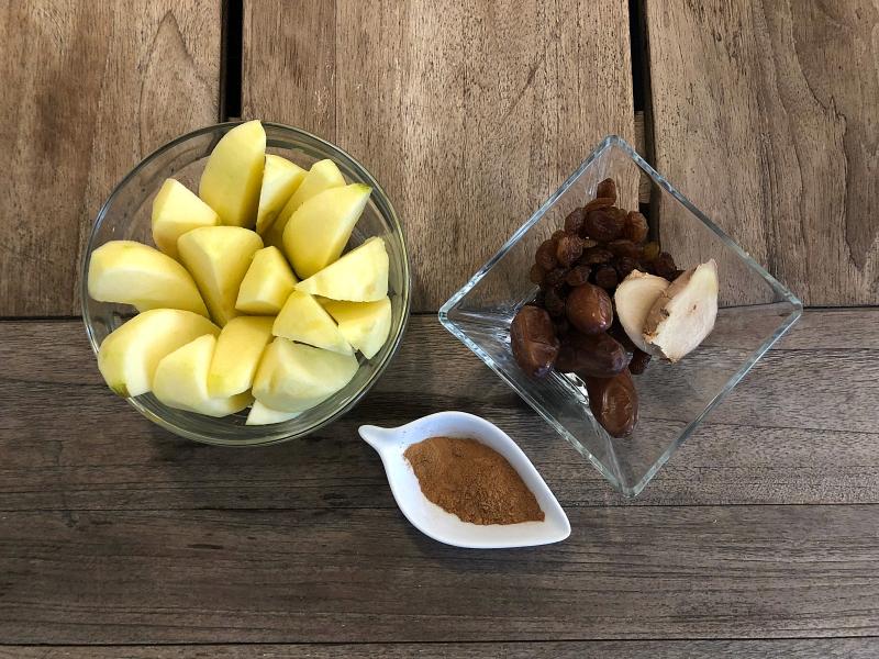 recetas sanas - manzana confitada