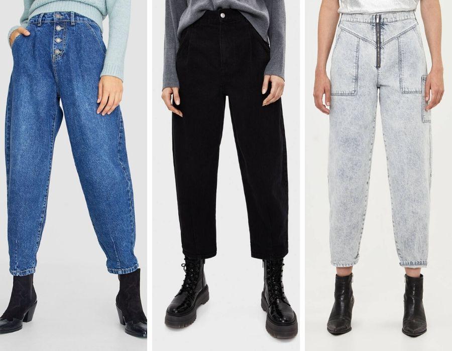 Jeans de Strasivarius y Bershka