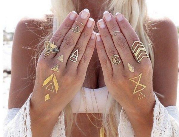tatuajes dorados