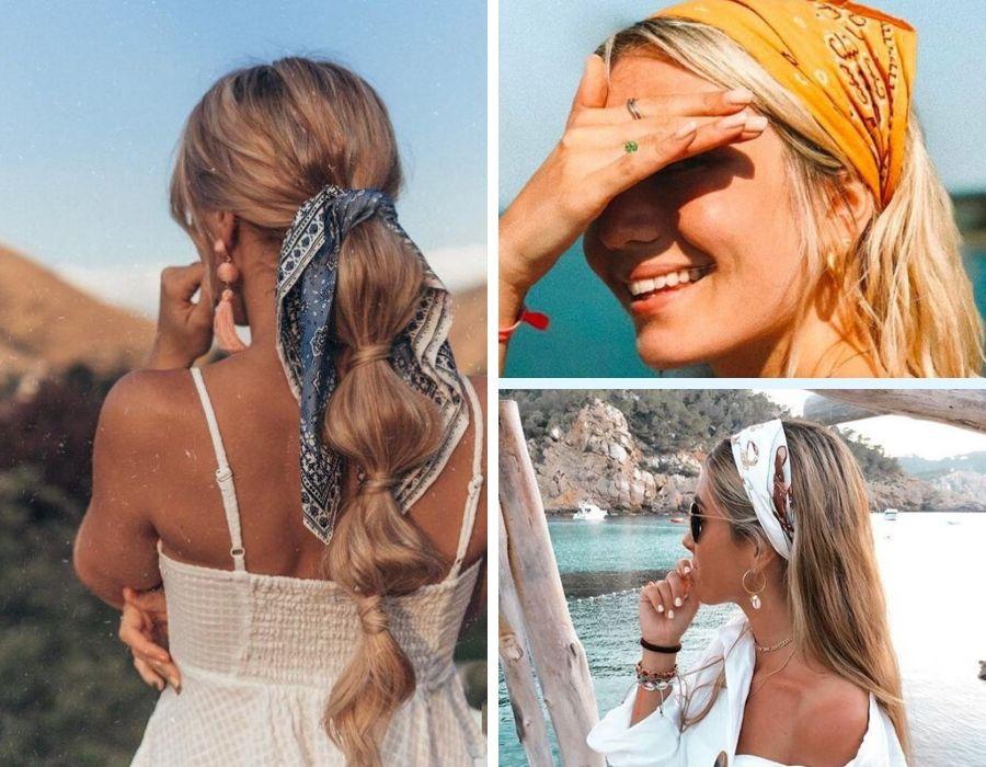 Formas de llevar la bandana  Foto: Pinterest.