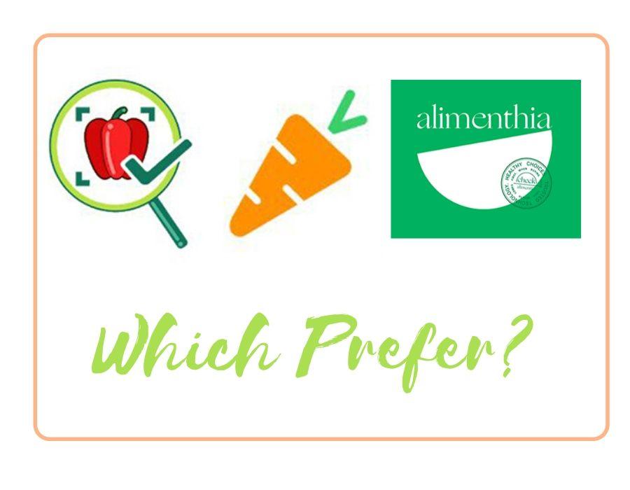 My Real Food, Yuka y Alimenthia. ¿Cuál prefieres?