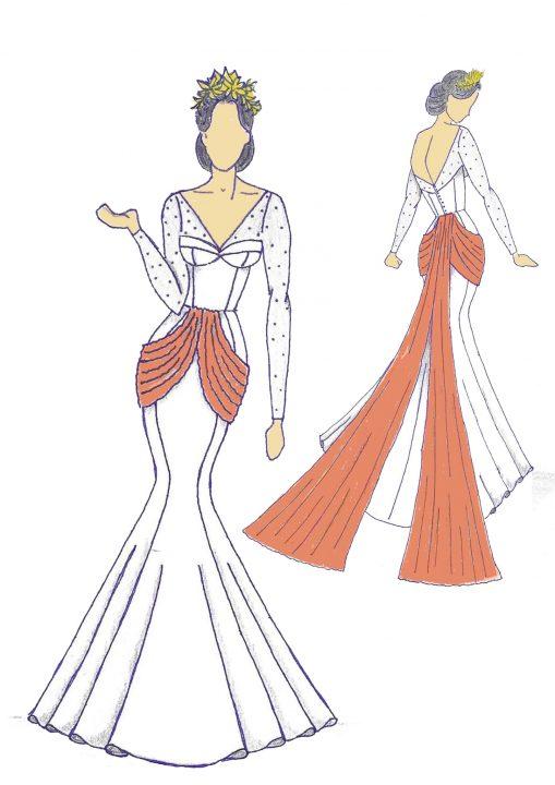Boceto del diseño Amelia
