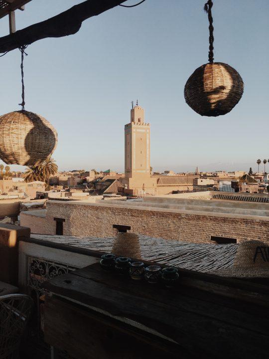 Atardecer en el Café Atay, Marrakech