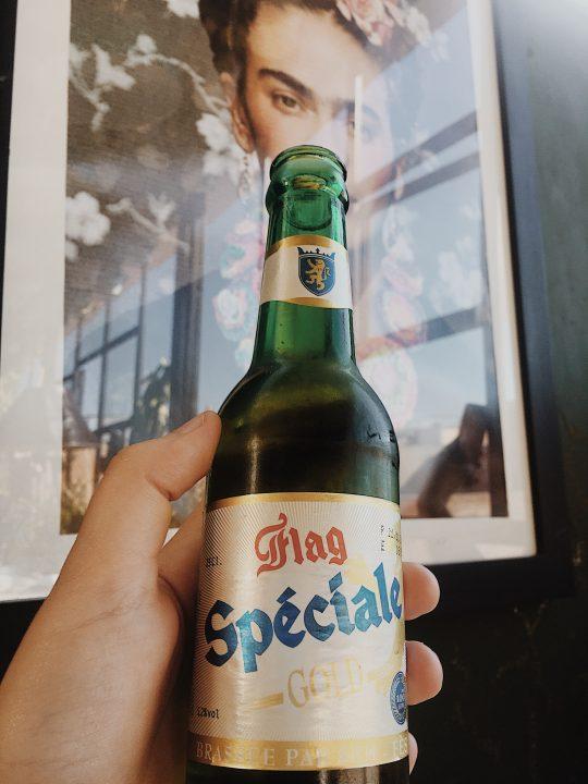 Cerveza local en Le Salama, Marrakech