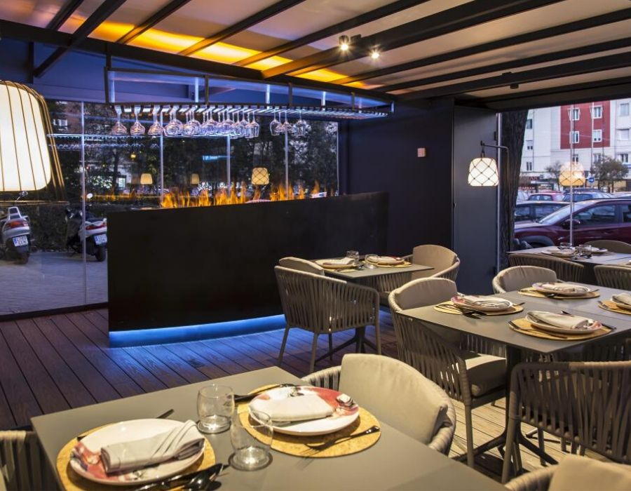 Nueva terraza climatizada del restaurante Iztac