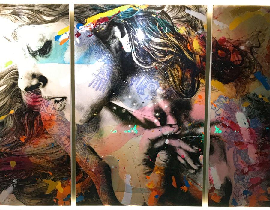 Uno de los lienzos que lucen las paredes del restaurante Iztac