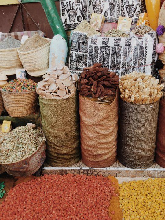 Esencias del zoco en Marrakech