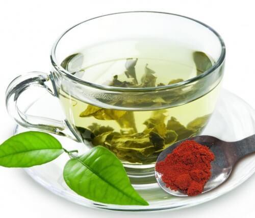 Té verde y pimienta