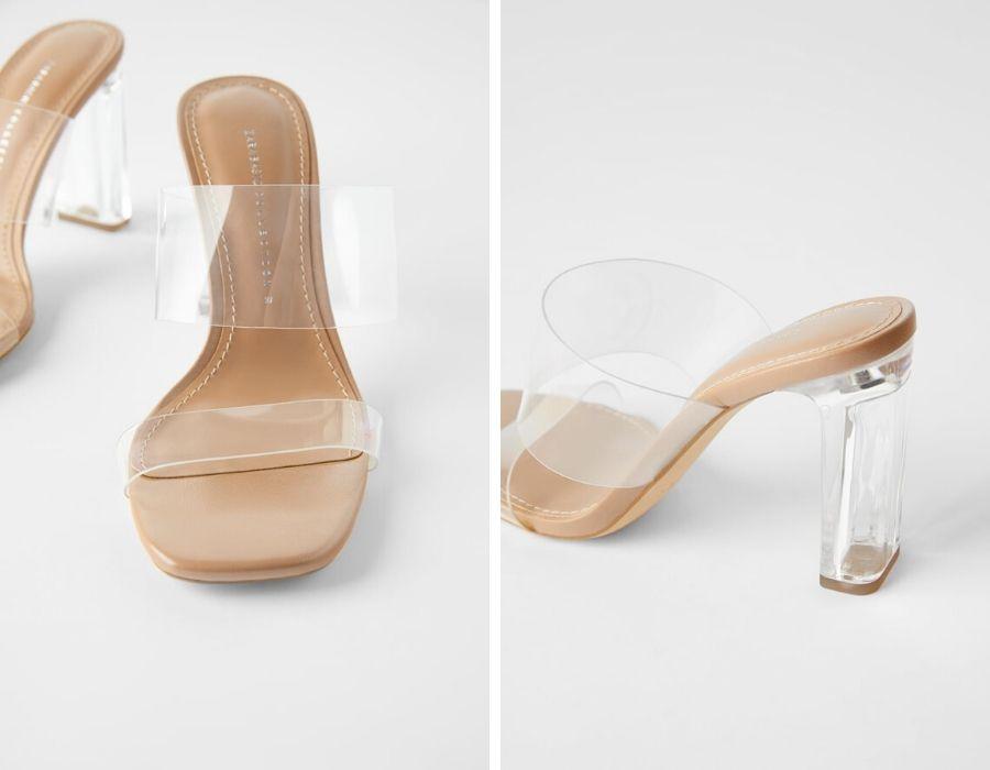 Sandalia de vinilo (Zara -29,95 EUR)