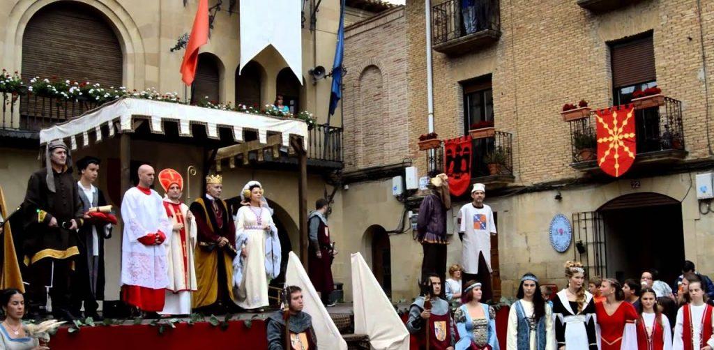 Boda en Olite en las fiestas medievales